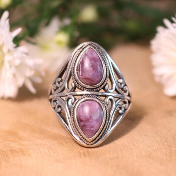 Moderne Edelsteen Ring - Mystique