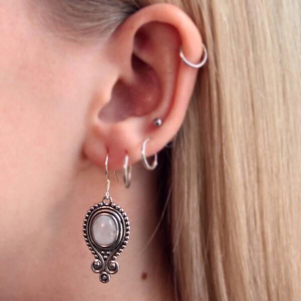 Edelsteen oorbellen - omnis jewels